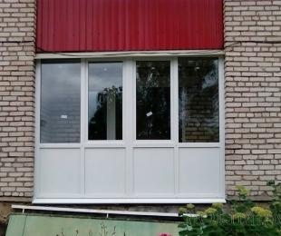 Балконная рама из ПВХ. Логойск. №8