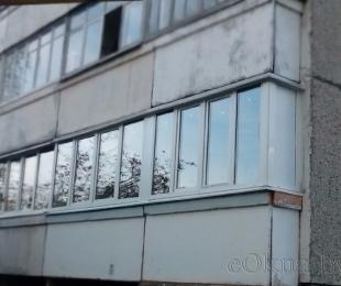 Балконная рама из ПВХ. Логойск. №9