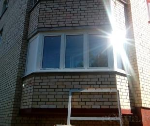 Балконная рама из ПВХ. Логойск. №12