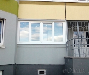 Балконная рама из ПВХ. Логойск. №3