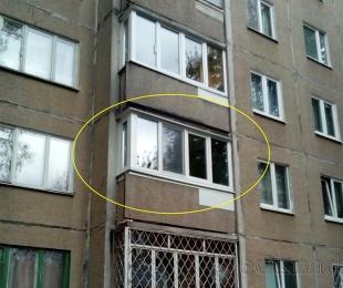 Балконная рама из ПВХ. Логойск. №2
