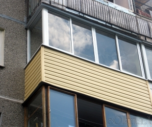 Балконная рама из алюминия. Логойск. №1