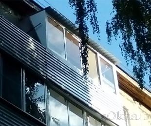 Балконная рама из алюминия. Логойск. №6