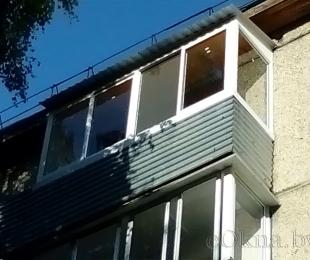 Балконная рама из алюминия. Логойск. №7