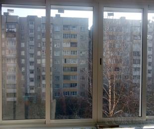 Балконная рама из алюминия. Логойск. №2