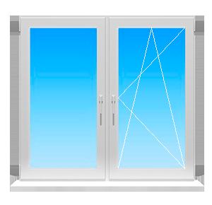 Фото окна с неподвижной и поворотно-откидной створкой цена