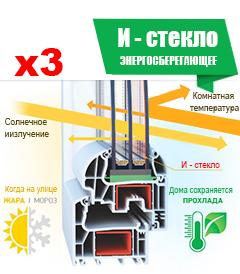 При заказе от 3 х окон – энерго-стеклопакет по цене обычного